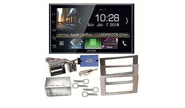 Kit de integracion doble DIN autoradio para ford focus Galaxy C-Max a partir de 2007 plata