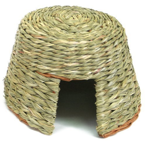 Ware Manufacturing Natural Willow and Grass Pet Hut for Small Pets, Large (Willow Grass)