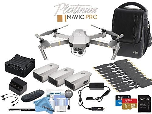 DJI Platinum Mavic Pro Drone Fly More (Obsidian) Combo (Version 2)