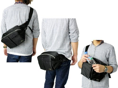 Porter Tanker   Waist Bag 08302 Black   Yoshida Bag  Briefcases   Amazon.com  Industrial   Scientific 9ace7a4153