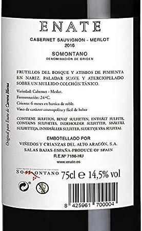 Estuche ENATE Cabernet Merlot 2016 de 3 Botellas de 75 cl, Vino Tinto, DO Somontano, Crianza 6 Meses