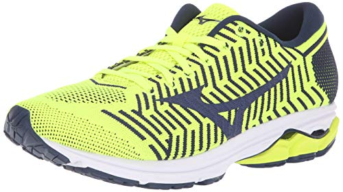 1bbd34ea96d5 Mizuno Men's Wave Rider 22 Knit Running Shoe, flash-maize, 12 D US