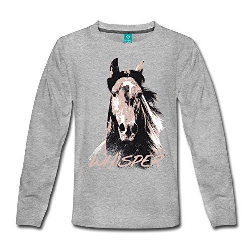 716a35a39 Spreadshirt Whisper 3 Étalon Cheval Portrait Dessin T-Shirt Manches ...