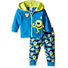 Disney Baby Boys' 2-Piece Mike from Monsters Inc. Hoodie and Printed Jogger Set, Blue, 3/6 Months