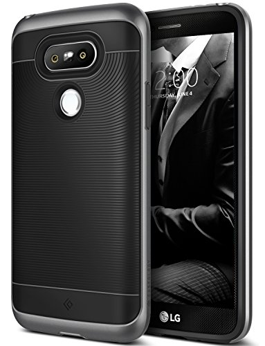 LG G5 Case, Caseology [Wavelength Series] Textured Grip Cover [Black/Black] [Shock Proof] for LG G5 (2016) – Black/Black