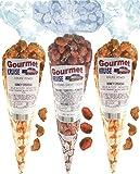 Cashews (2) Honey Salted Roasted Delicately (1) Caramel Toasted Peanuts (NET WT 17 OZ) Gourmet Kruise Signature Gift Bags