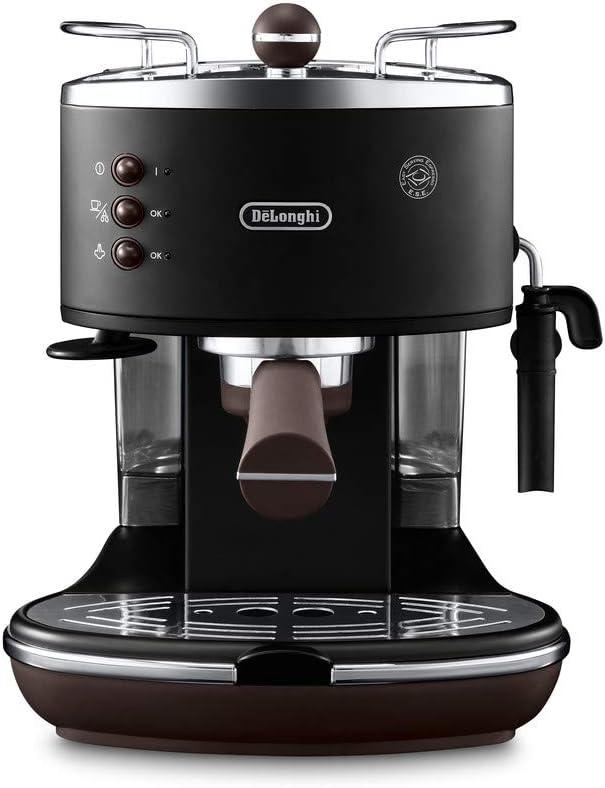 DeLonghi ECOV311.BK Cafetera Espresso Vintage Icona, Independiente, Semi-autom?tica, 1050 W, 1.4 L, 15 bares, color negro: Amazon.es: Hogar