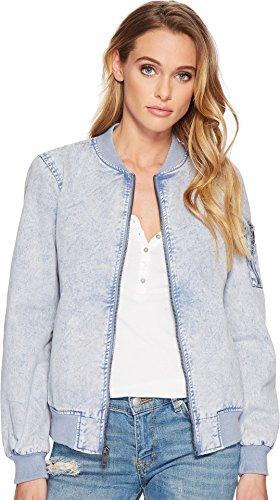 - Levi's Women's Acid wash Cotton Bomber Jacket, Blue, S