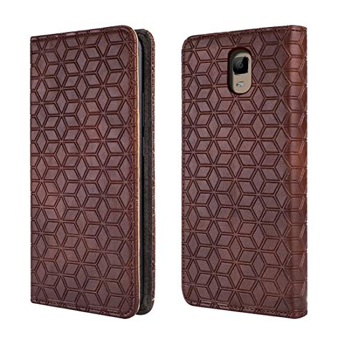 Oukitel ok6000 Plus Case, [Kickstand] [Card Slot+Side Pocket] Premium Soft PU Color Matching Leather Wallet Cover Flip Case Protective Case for Oukitel ok6000 Plus (Brown)