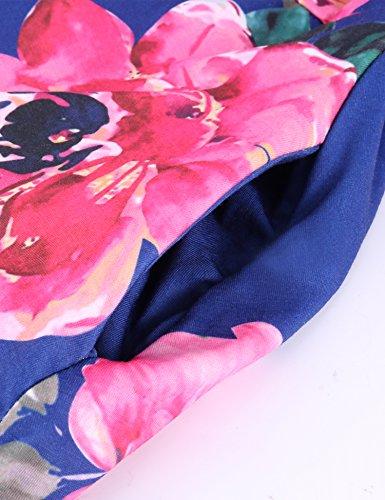 de Dromild pour plage femme Rouge Fleur Robe imprim fleuri O564w5