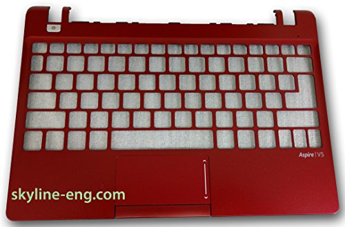New Acer Aspire V5-123 Laptop Red Upper Case Palmrest #38; Touchpad