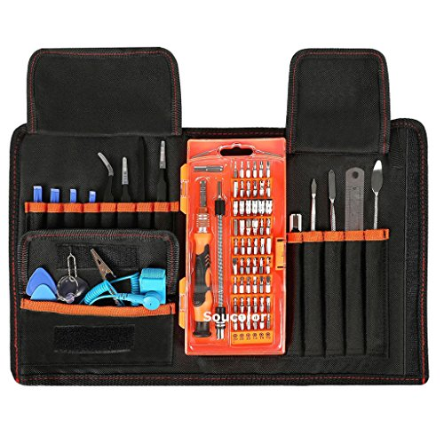 Soucolor 78 in 1 Precision Screwdriver Set, Magnetic Driver Kit, Repair Tool Kits with Portable Case for iPad, iPhone, Tablets, Laptops, PC, Smartphones, Watches, Electronics Disassembly