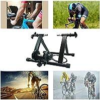 Marco de Entrenamiento de Bicicleta, Rodillo de Entrenamiento de Fitness de Bicicleta, Marco Fijo de la Bicicleta, Plegable y fácil Almacenamiento, para Interior/Exterior/Garaje, Negro: Amazon.es: Deportes y aire libre