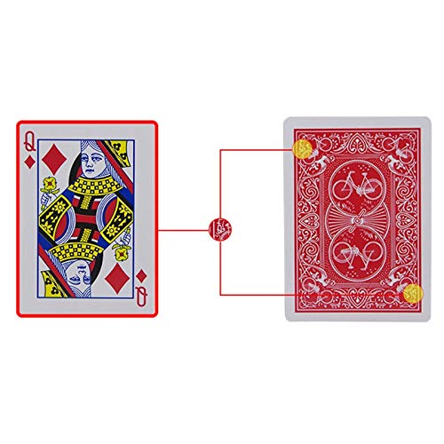 SHENGLIN New Secret Marked Poker Cards See Through Playing Cards Magic Toys Simple but Unexpected Magic Tricks (Simple Card Tricks With A Normal Deck)