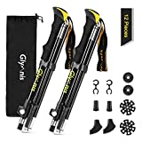 Glymnis Trekking Poles Hiking Poles Collapsible Walking Sticks Lightweight with Tungsten Tips Quick