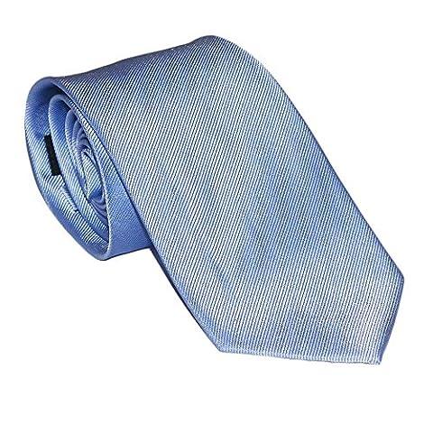 SummerTies Solid Necktie - Light Blue, Woven Silk, Kids Length - Kids Necktie