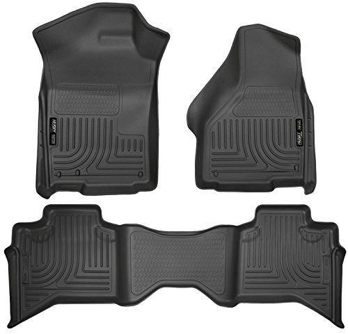 Husky Liners Front & 2nd Seat Floor Liners Fits 09-18 Ram 1500 Quad Cab -