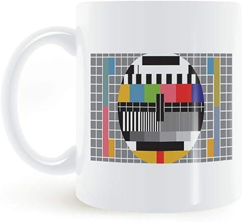 Munxag Taza de cerámica Taza de café Taza de Agua TV sin interferencia de señal: Amazon.es: Hogar