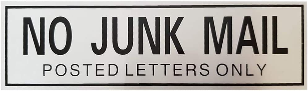 London Heritage Metal No Junk Mail Sign Sticker Self Adhesive Door Wall Unwanted  mail Letter Box for Office, Home: Amazon.co.uk: Office Products