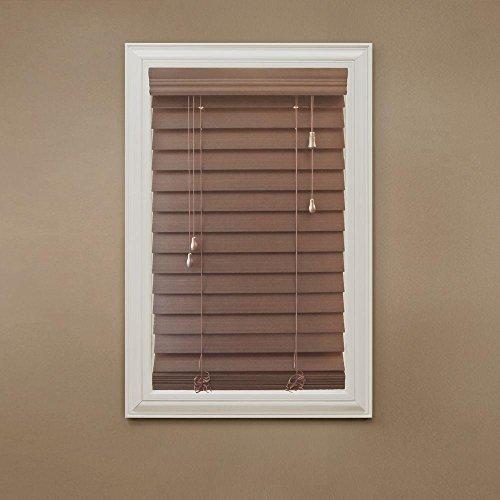 Maple 2-1/2 in. Premium Faux Wood Blind – 52 in. W x 64 in. L