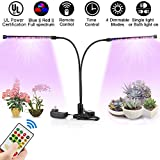 Grow Lights for Indoor Plants, Full Spectrum with Remote Control Timing, XingruyuUS Dual Head Plant Light, 72 LED 4 Dimmable Levels, Grow Lamp with Red/Blue Switching, Grow Lamp for Greenhouse For Sale