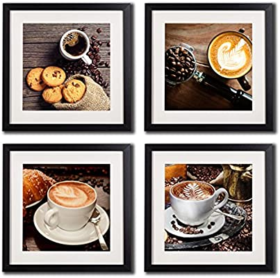 Coffee Framed Wall Art Decor Posters And Prints Modern Still Life