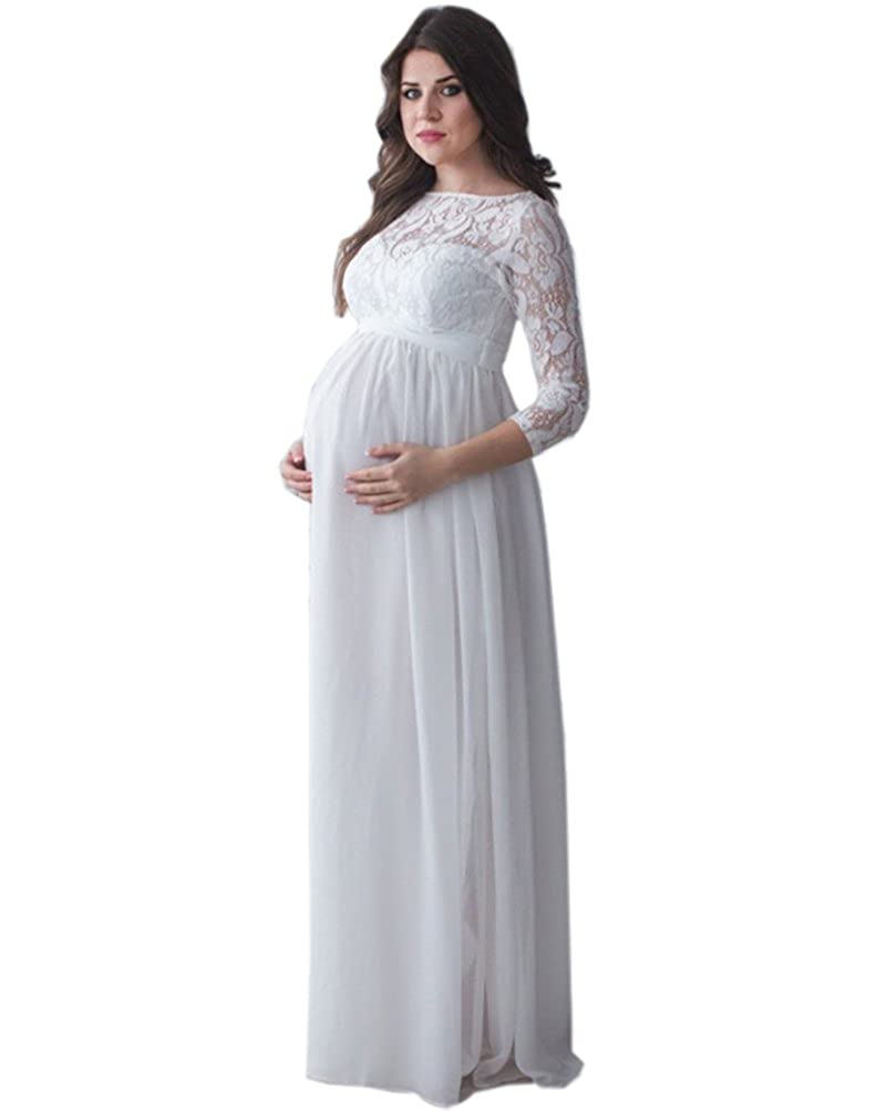 Engerla Long 3/4 Sleeves Photo Shoot Skirts Pregnant Photography Dress