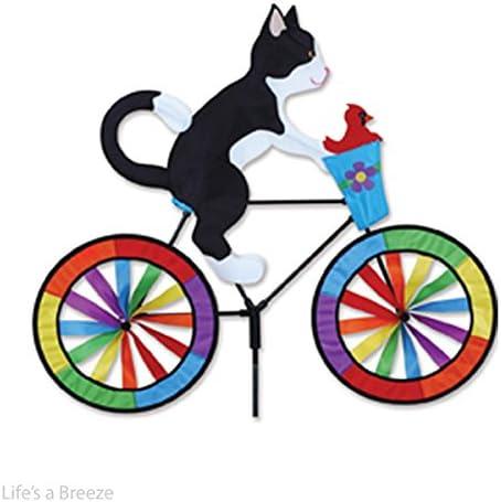 Gato Jardín viento Spinner. esmoquin gato en una bicicleta jardín Spinner: Amazon.es: Jardín