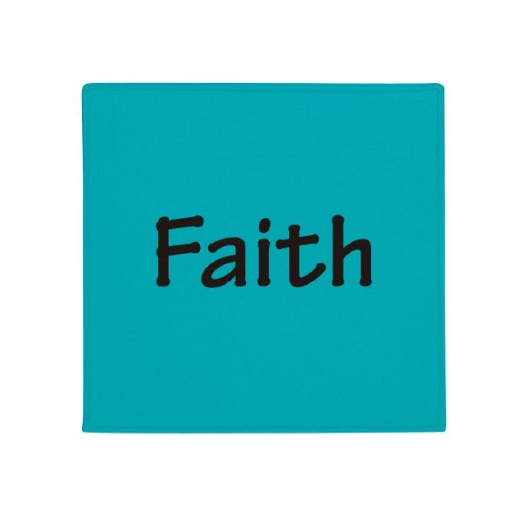 DIYthinker Faith Word Inspirational Quote Sayings Anti-Slip Floor Pet Mat Square Home Kitchen Door 80Cm Gift
