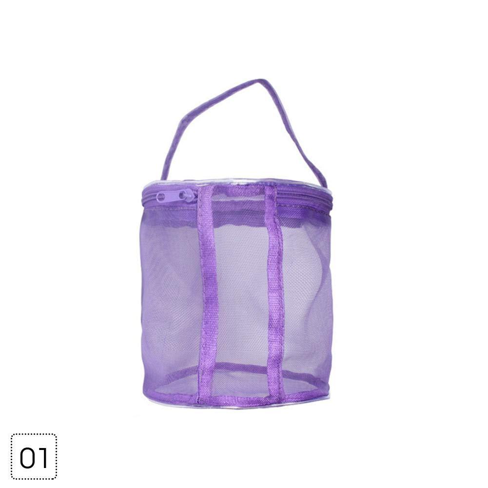 Medium Nylon Purple Febelle Borsa Porta Filati in Nylon per lavori a Maglia e Uncinetto