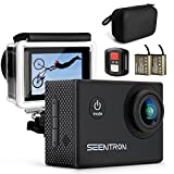 #1: Action Camera, SEENTRON 4K Ultra HD WiFi Waterproof Sports Camera with 16MP SONY CMOS Sensor, 170° Wide Angle SharkEye Lens, Remote Control, 2 Rechargeable Batteries & Portable Package