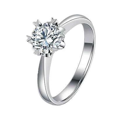 miglior servizio 35e38 1715e Bigboba, elegante anello a fiocco di neve, anello argentato, anello di  fidanzamento e per matrimonio, anello da coppia