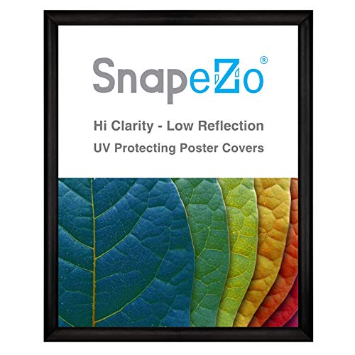 SnapeZo Poster Frame 24x30 Inch, Brushed Black Effect 1