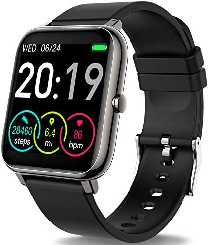 """Rinsmola Smart Watch for Android Phones, Fitness Tracker 1.4"""" Full Touch Screen, Smartwatch for Men Women Heart Rate Monitor, Step Counter, IP67 Waterproof Fitness Watch Compatible with iPhone Samsung 1"""