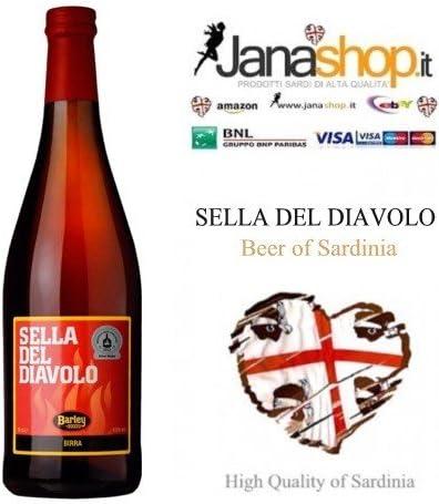 2 x CERVEZA SELLA DEL DIAVOLO, Cerveza Artesanal, 75 cl, 6,5° Alc. Productos Cerdeña: Amazon.es: Alimentación y bebidas