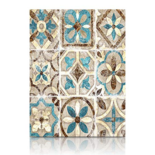 Homeyard Canvas Prints Wall Art Design Vintage Italian Tile Moroccan Pattern with 12 x 16 Inches Wooden Framed Artwork Painting Home Decor Bedroom Office ()