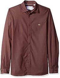Men's Long Sleeve Slim Fit Blue Pack Jacquard Dot Button Down