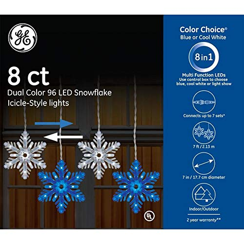 Ge Led Cool White Icicle Lights in US - 9