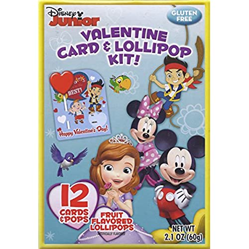 Disney Junior Valentine Card and Lollipop Kit 12 Ct. Sales