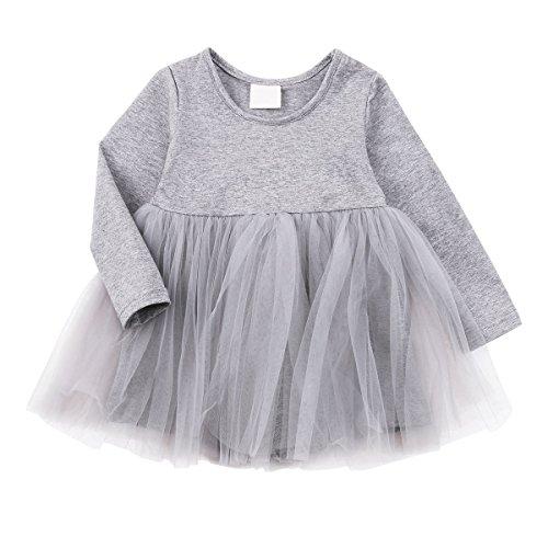 Net Long Sleeve Dress - 9