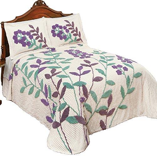 Windsor Flower & Vines Chenille Lightweight Bedspread, Queen (Queen Chenille Bedspread)