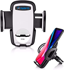 FIYAVO Car Phone Mount, Universal Air Vent Mount Holder Cradle Car Cell Phone Holder for iPhone XS/X/8/8Plus/7/7Plus/6s/6Plus/5S, Samsung S5/S6/S7/S8, LG, Huawei, Google Nexus, and More