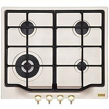 Franke FHCL 604 3G TC PW C 106.0271.786 - Placa de cocina (Gas/Montaje, 4 placas de cocción, 60 cm, panel de control integrado, carcasa térmica magnética extraíble, asas de mordaza)