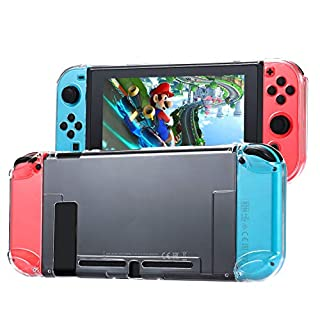 Tasikar Dockable Protective Case Compatible with Nintendo Switch Separable Crystal Clear Case Compatible with Nintendo Switch Console and Joy-Con Controllers (Clear)