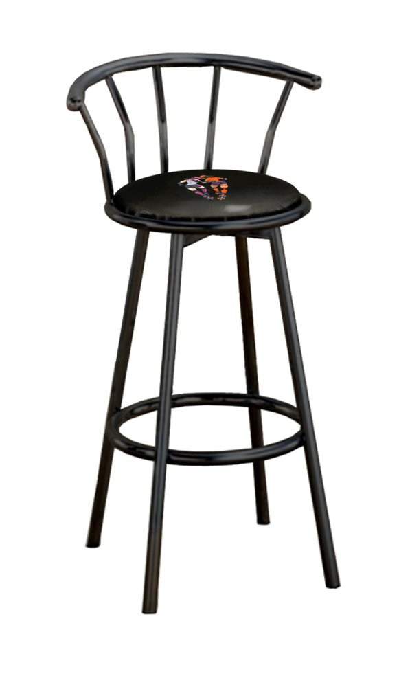 Stupendous Amazon Com New 29 Tall Black Metal Bar Stools Features A Machost Co Dining Chair Design Ideas Machostcouk