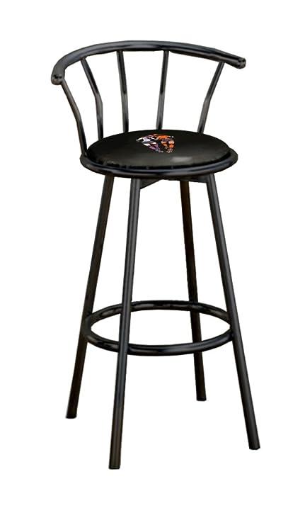 Admirable Amazon Com New 24 Tall Black Metal Bar Stools Features A Machost Co Dining Chair Design Ideas Machostcouk