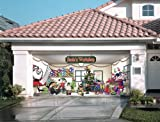 Santa's Workshop Outdoor Christmas Holiday Garage Door Décor 7'x16'