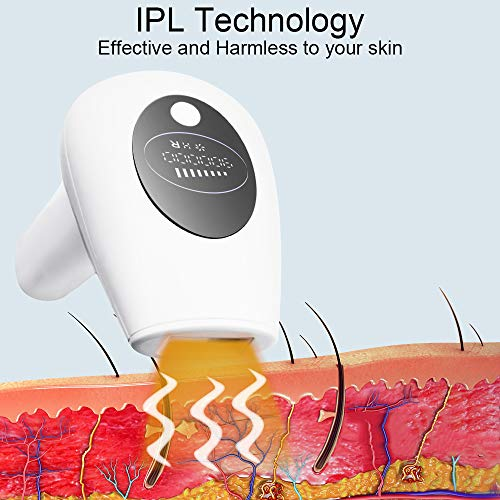 IPL Hair Removal for Women and Men, Bariicare Permanent Painless Hair Remover Upgrade to 900,000 Flashes, 8 Levels, Laser Hair Device for Full Body Home Use