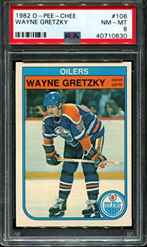 1982 O-PEE-CHEE #106 WAYNE GRETZKY OILERS HOF PSA 8 (Wayne Gretzky Trading Cards)