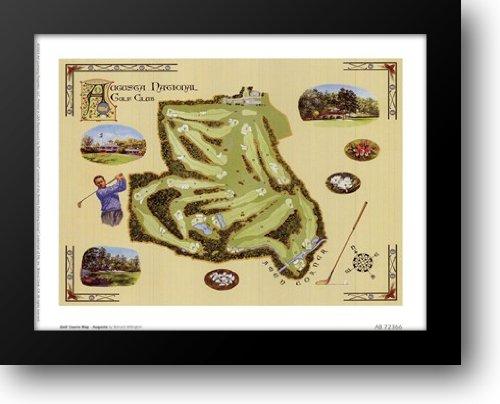 Golf Course Map - Augusta 12x10 Framed Art Print by Willington, Bernard
